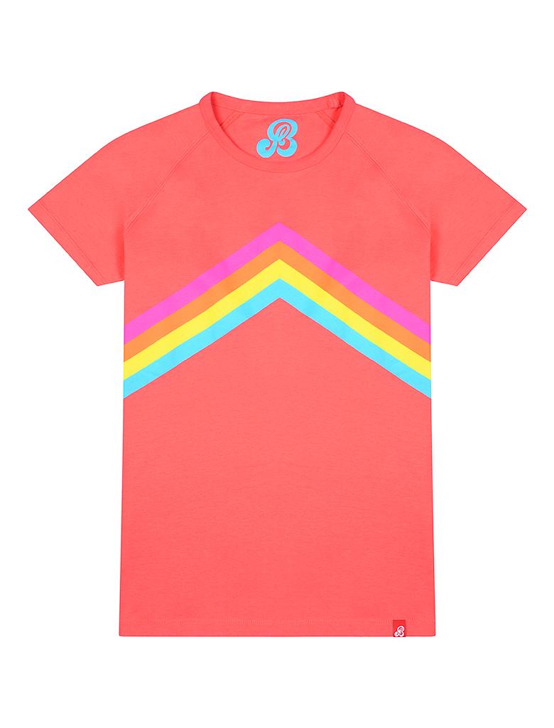 St Bert's Rainbow T-Shirt - Coral