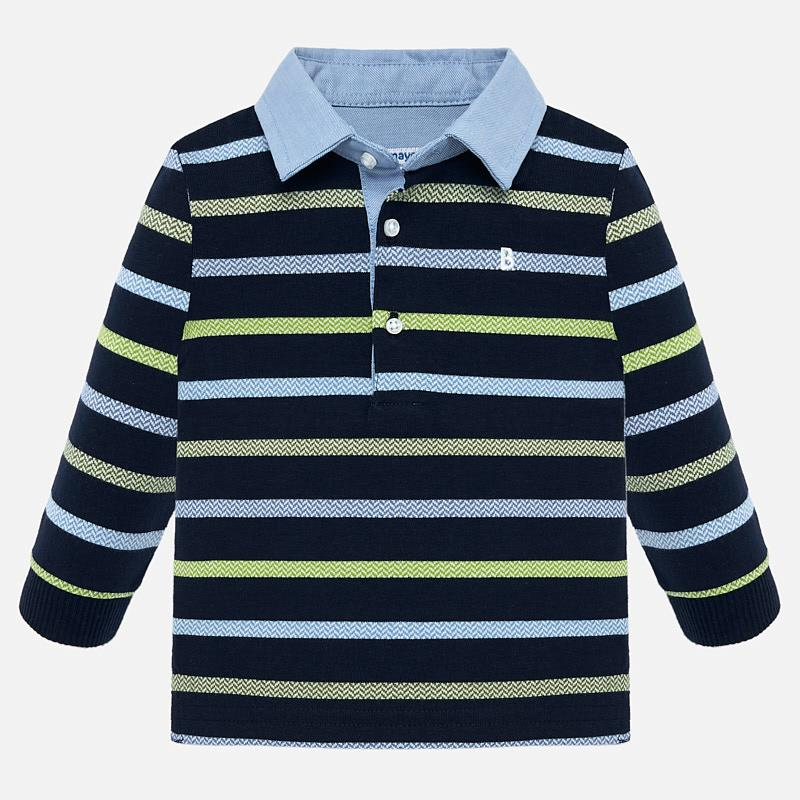 NOW £10 Mayoral Blue Stripe Polo (2108)