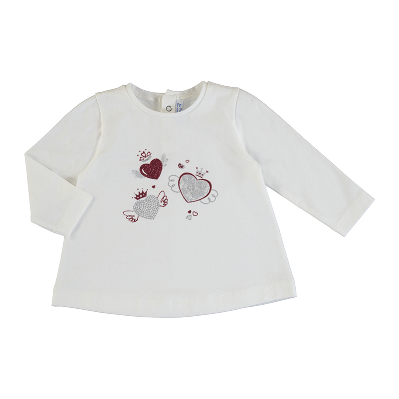 SALE £11.20 Mayoral Top White With Hearts (2059) (was £14)