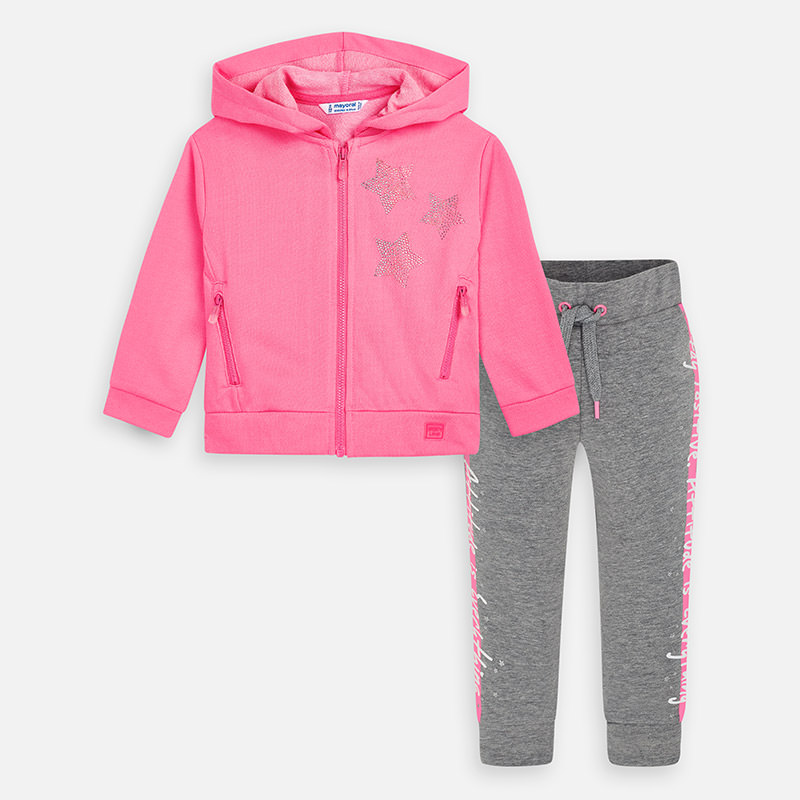 Mayoral Star Tracksuit Pink & Grey (3820)