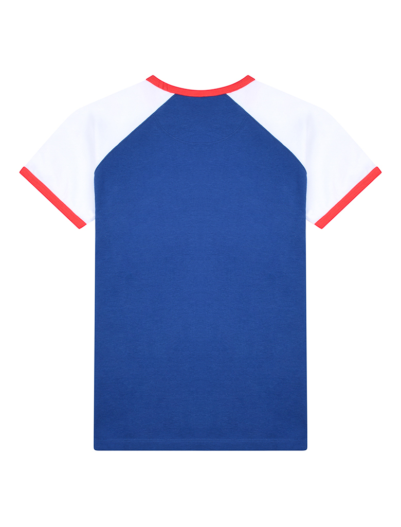 St Bert's Curve Wave T-Shirt - Blue / White