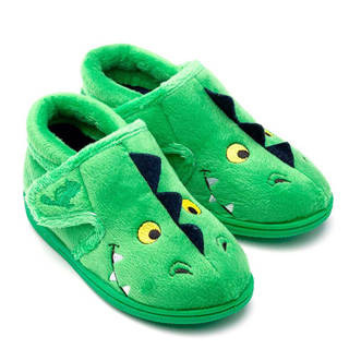 Chipmunks Scorch Green Slippers