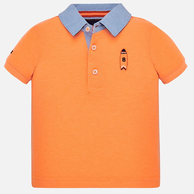 NOW £10 Mayoral Short Sleeved Polo Shirt Orange (1152)(was £21)