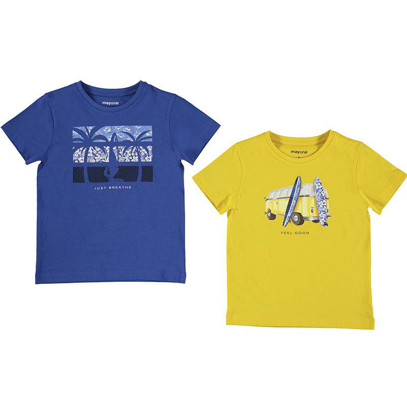 Mayoral 2 Piece T-Shirt Set-Blue & Yellow 3033