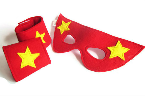 A is for Alice Superhero Mask/Cuffs