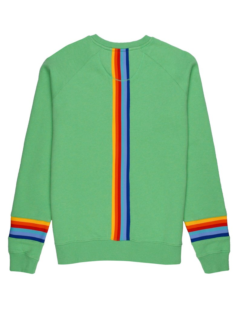 St Bert's Reverse Stripe Sweatshirt - Greengage