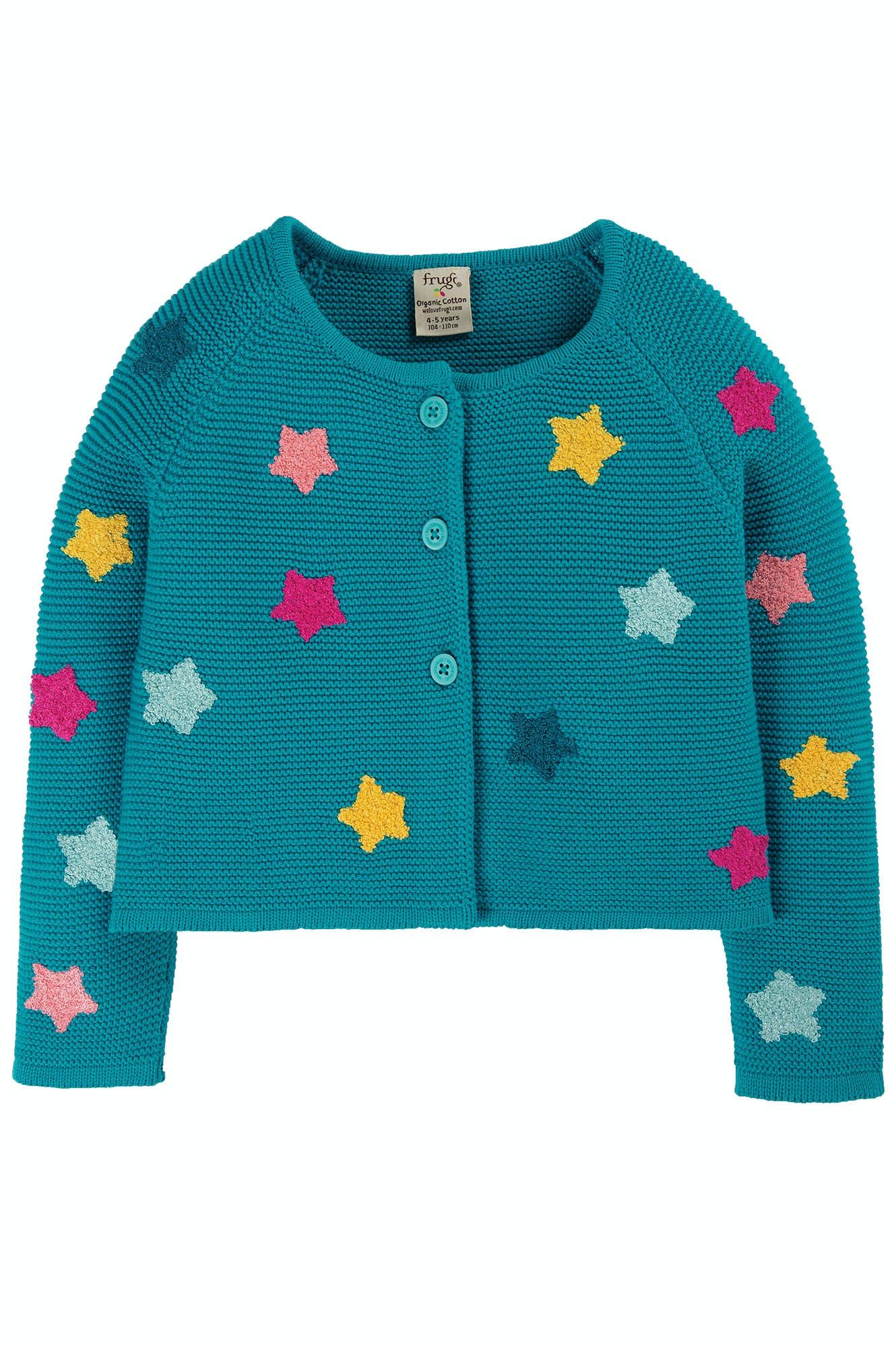 SALE £27.20 Frugi Emilia Embroidered Cardigan-Stars (Was £34)
