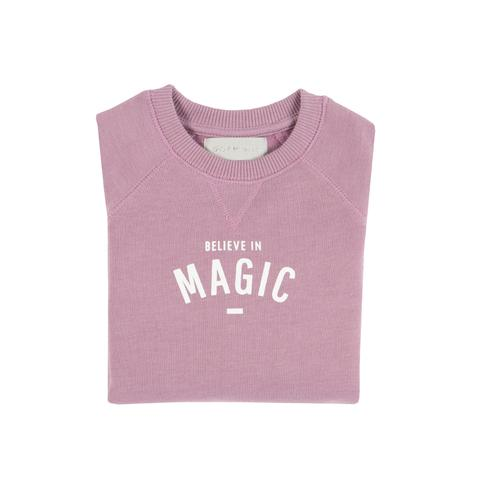Bob & Blossom 'Believe in Magic' Sweatshirt-Lilac