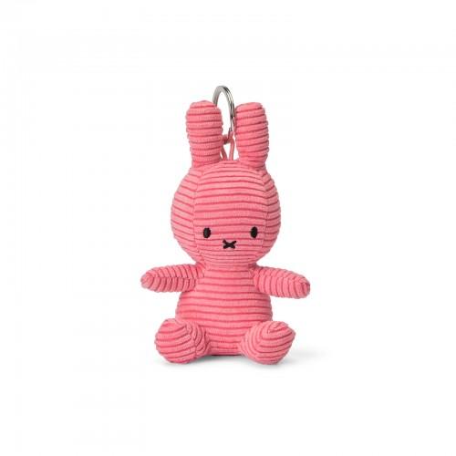 Miffy Keyring - Corduroy Bubblegum Pink