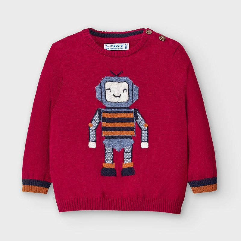 Mayoral Robot Sweater -Wine (2345)