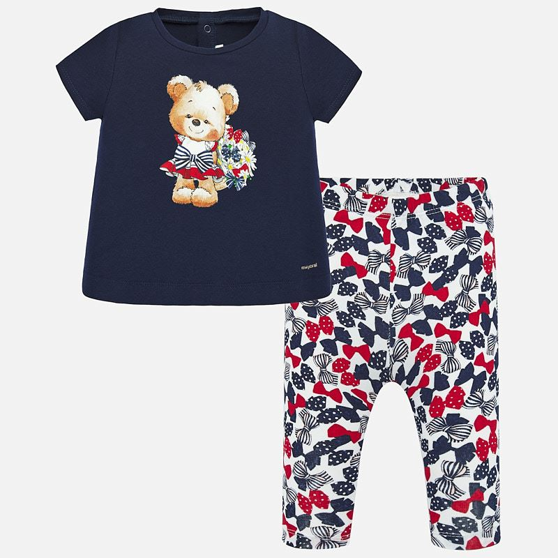 Mayoral T-Shirt & Leggings Set Navy (1716)