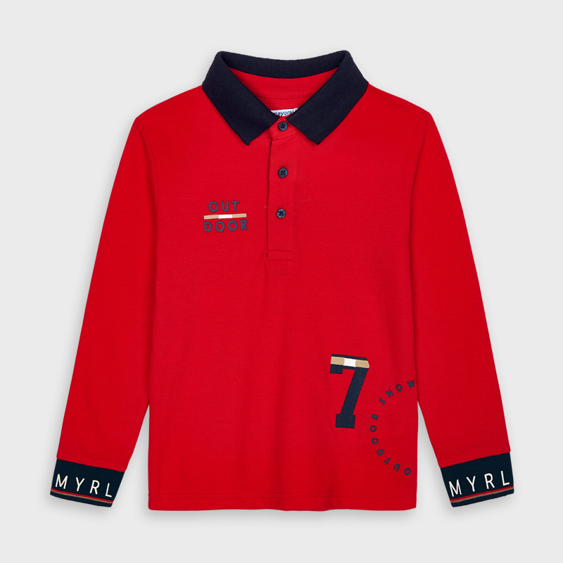 Mayoral Polo Shirt -Red (4135)