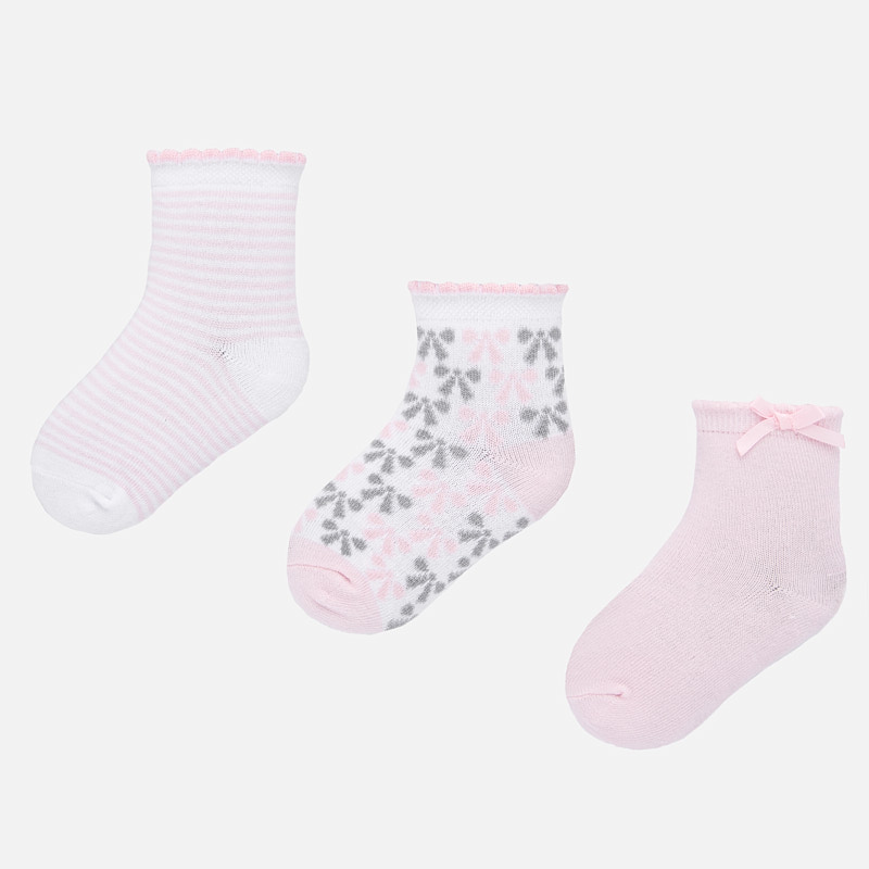 NOW £5 Mayoral Sock Set Pink/Grey (10739)(was £10)