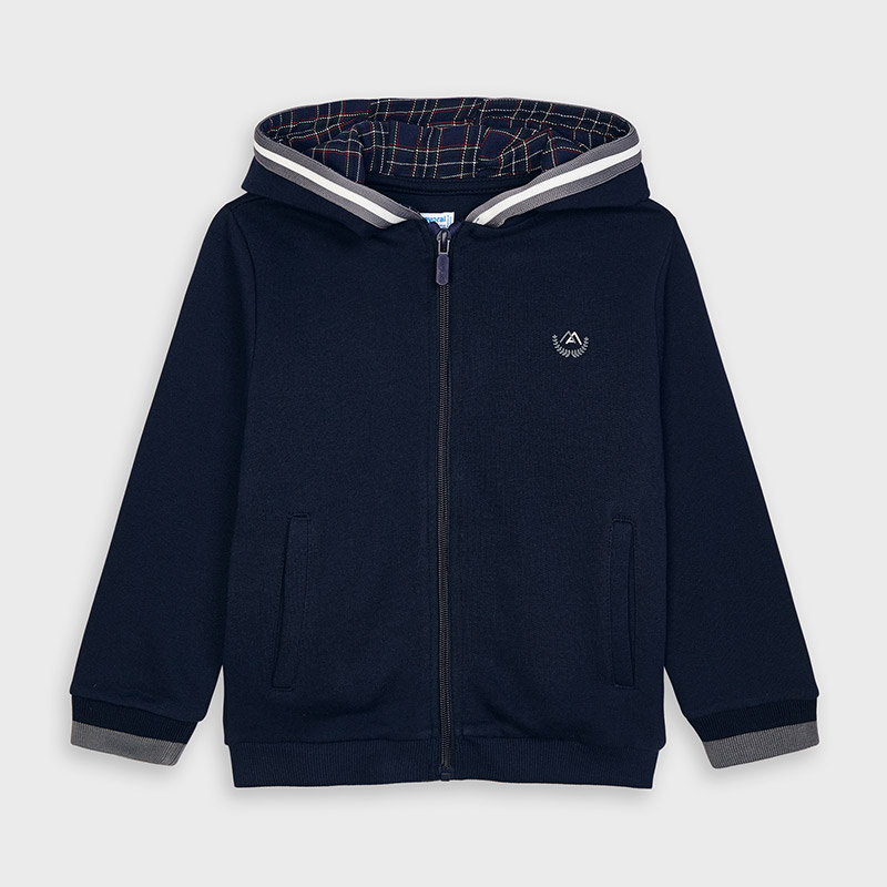Mayoral Hooded Zip Up Top-Navy (4486)