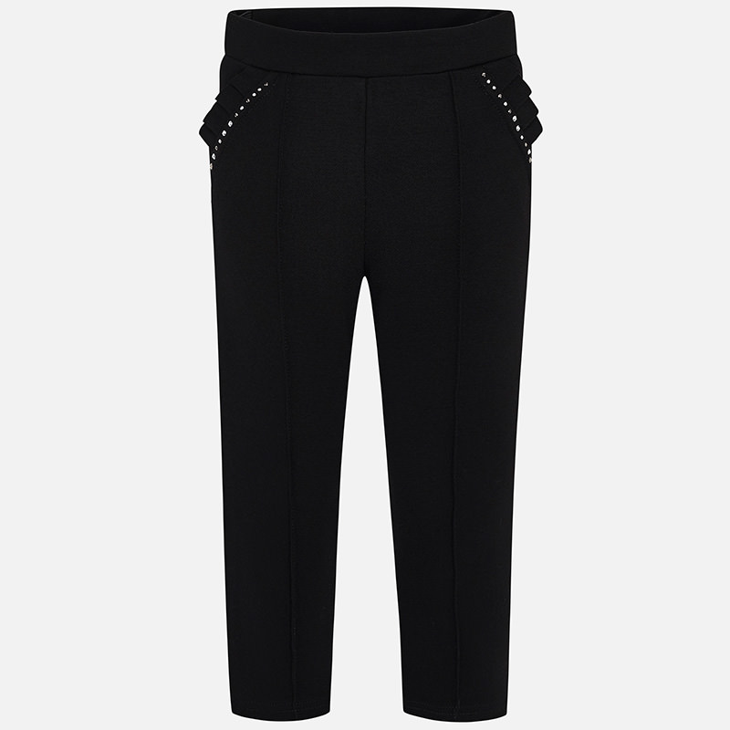 WAS £27.00 Mayoral Diamanté Trousers Black (4501)