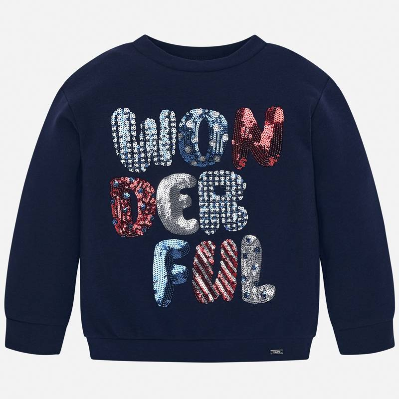 WAS £25.00 Mayoral 'Wonderful' Sweatshirt Navy (4404)