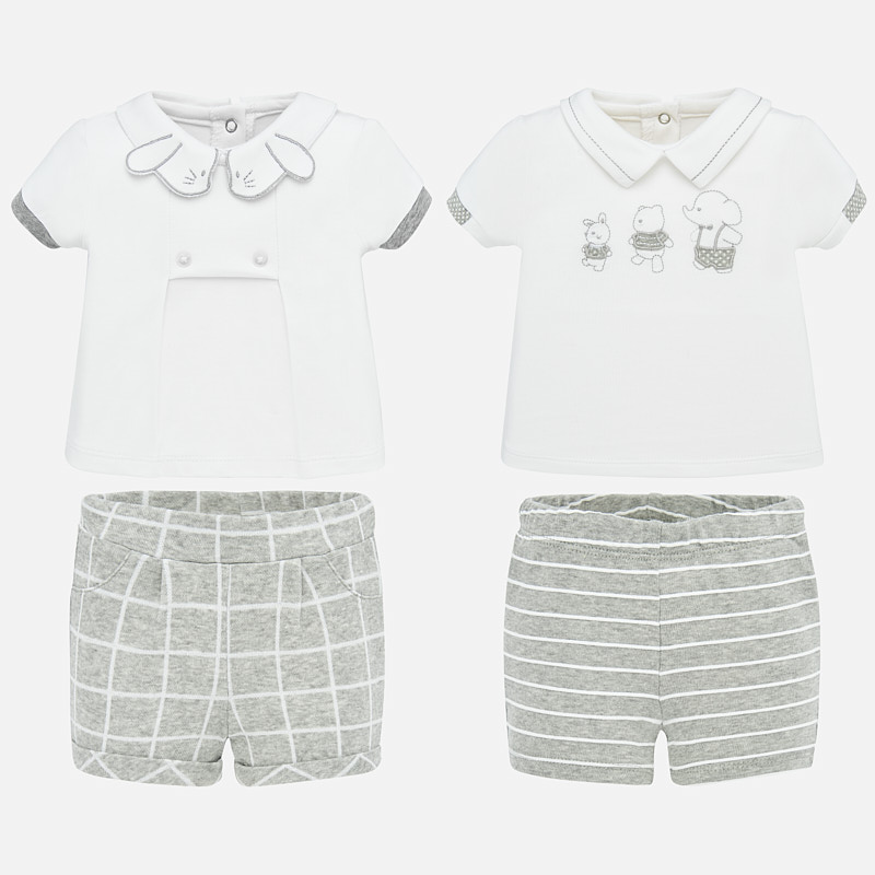 NOW £17 Mayoral 4 Piece T-Shirt & Short Set Grey (1666)(was £35)