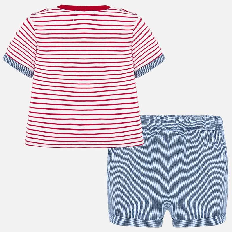 NOW £21 Mayoral T-Shirt & Shorts Set Red/White Stripe (1260)