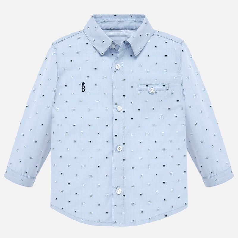 NOW £12 Mayoral Jacquard Shirt Blue (2114) (Was £24)