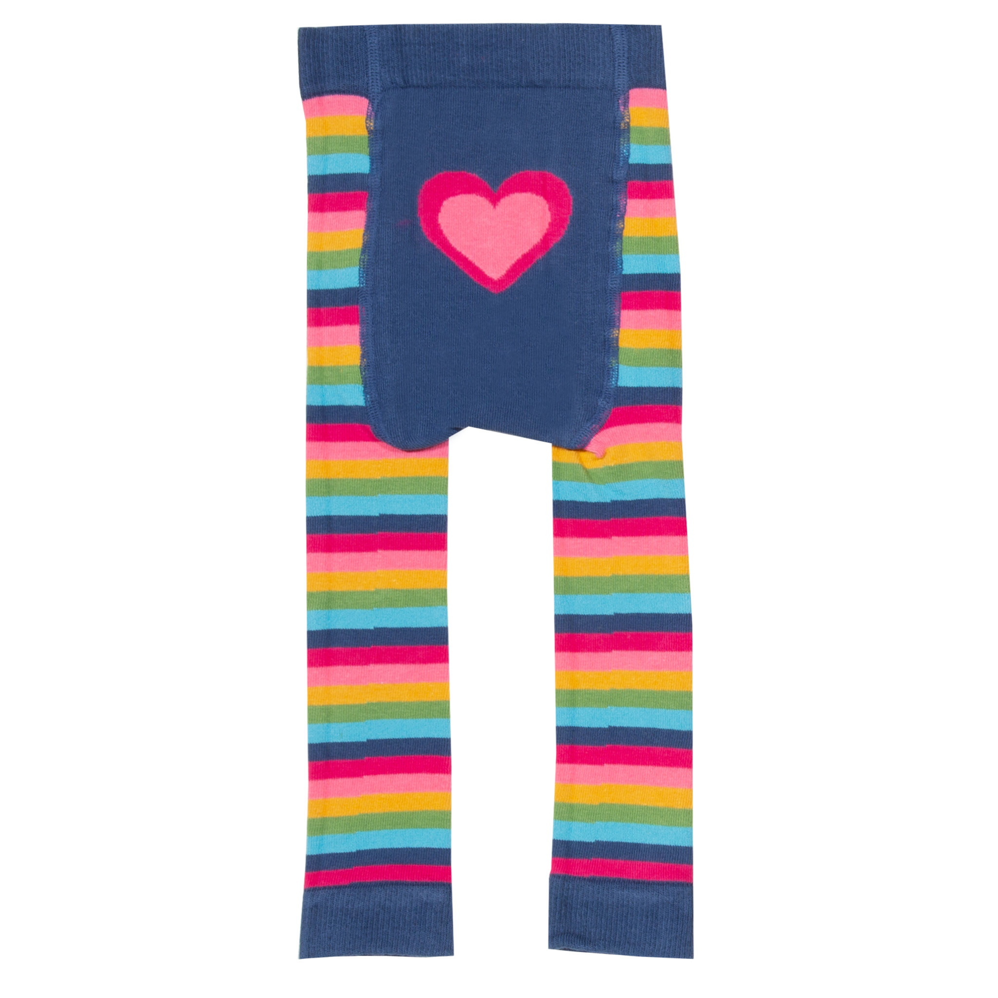 Kite Stripy Heart Knit Leggings (Was £14.00)