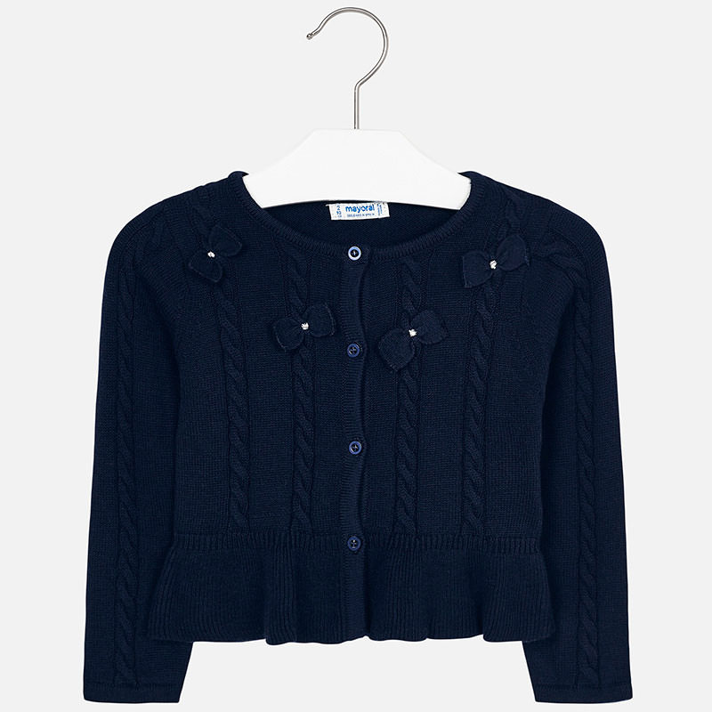 WAS £27.50 Mayoral Knitted Cardigan Navy (4306)