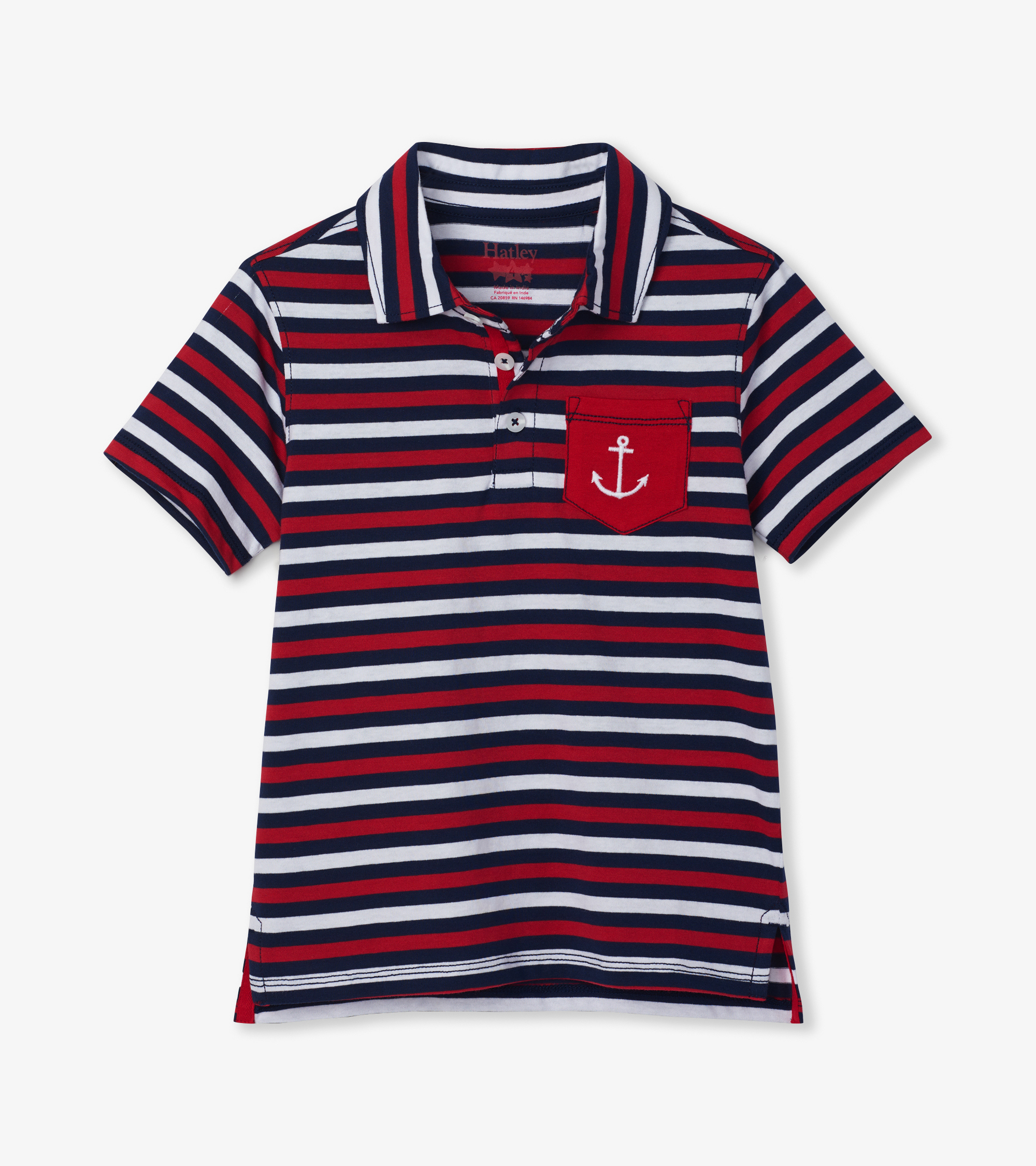 Hatley Nautical Stripe Polo Tee