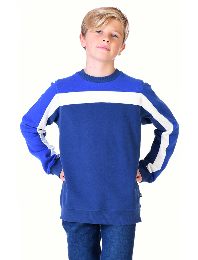 St Bert's Panel Sweatshirt- Twilight Blue/Dazzling Blue