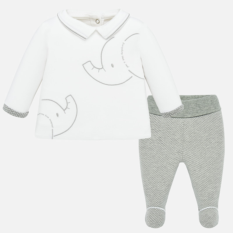 Mayoral Babygrow 2 piece Set Grey (1536)