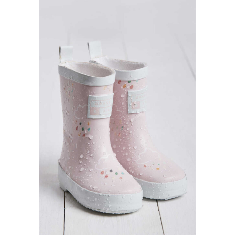 Grass & Air Colour Revealing Wellies - Baby Pink