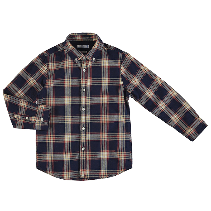 Mayoral Checked Shirt Navy (4147)