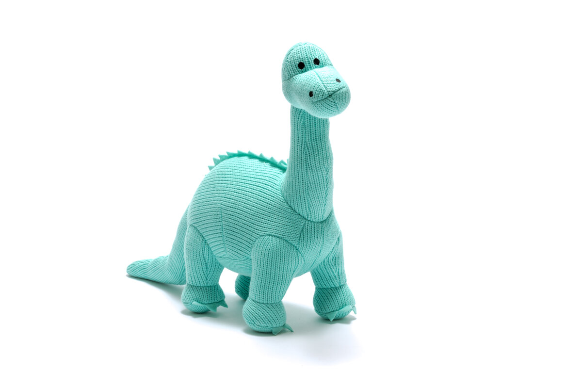 Best Years Knitted Diplodocus - Ice Blue