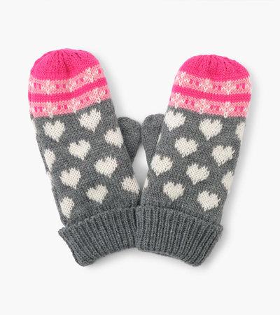 Hatley Winter Hearts Fleece Lined Mittens