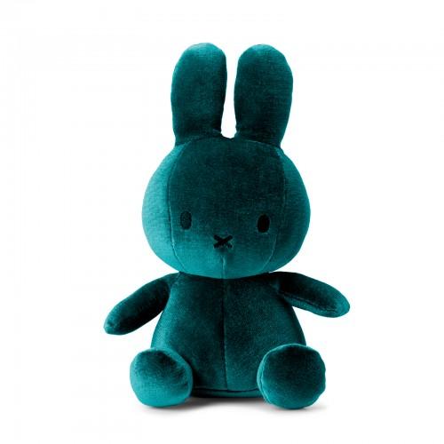 Miffy Sitting Velvet Dark Teal - 23 cm - 9