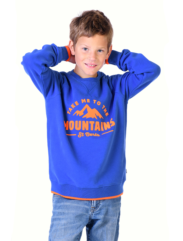 St Bert's Mountains Sweatshirt - Dazzling Blue (was £34)