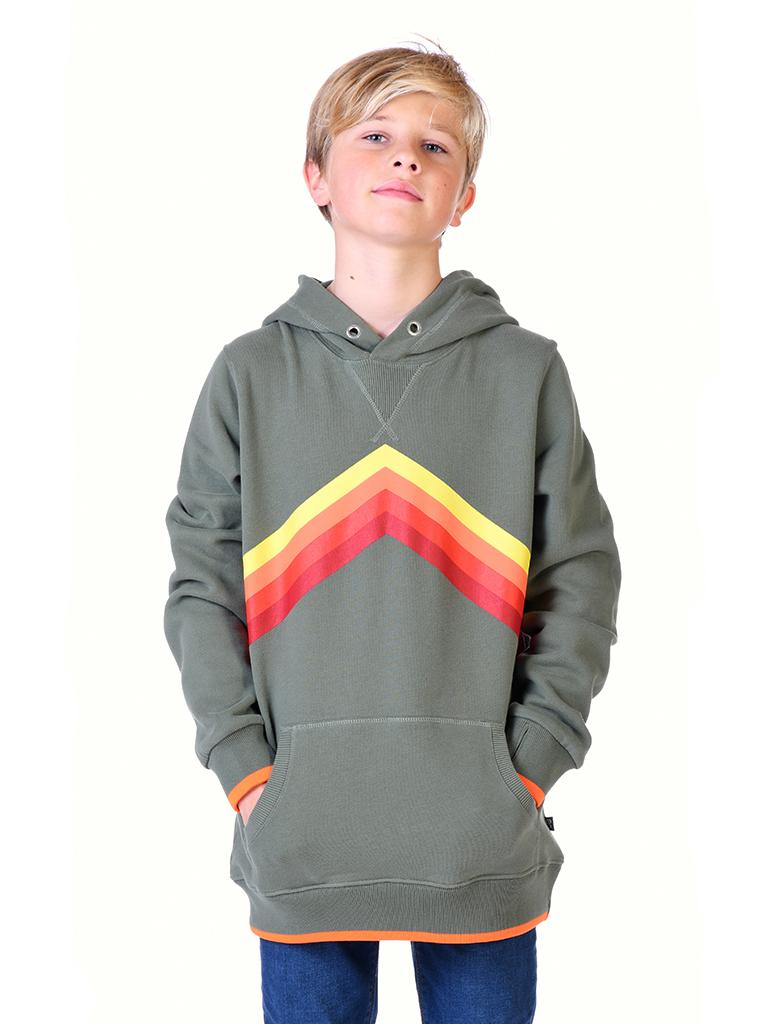 SALE £30 St Bert's Rainbow Hoodie-Khaki (was £37.50)