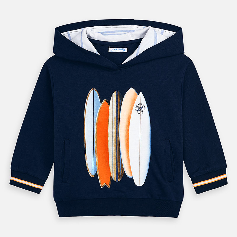 Mayoral Hooded Sweatshirt With Surfboard Design Navy (3439)