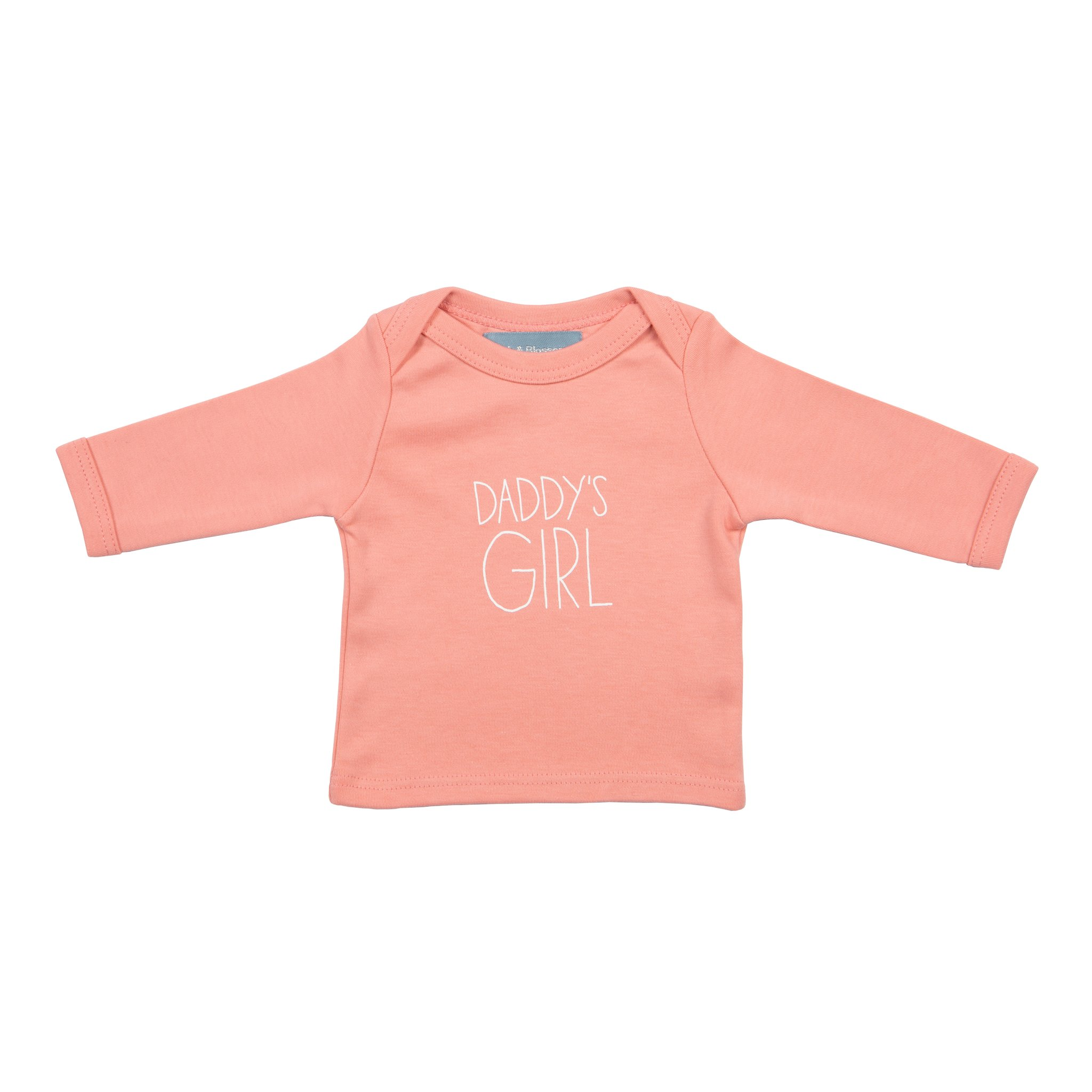 Bob & Blossom 'Daddy's Girl' Baby T Shirt - Blush Pink