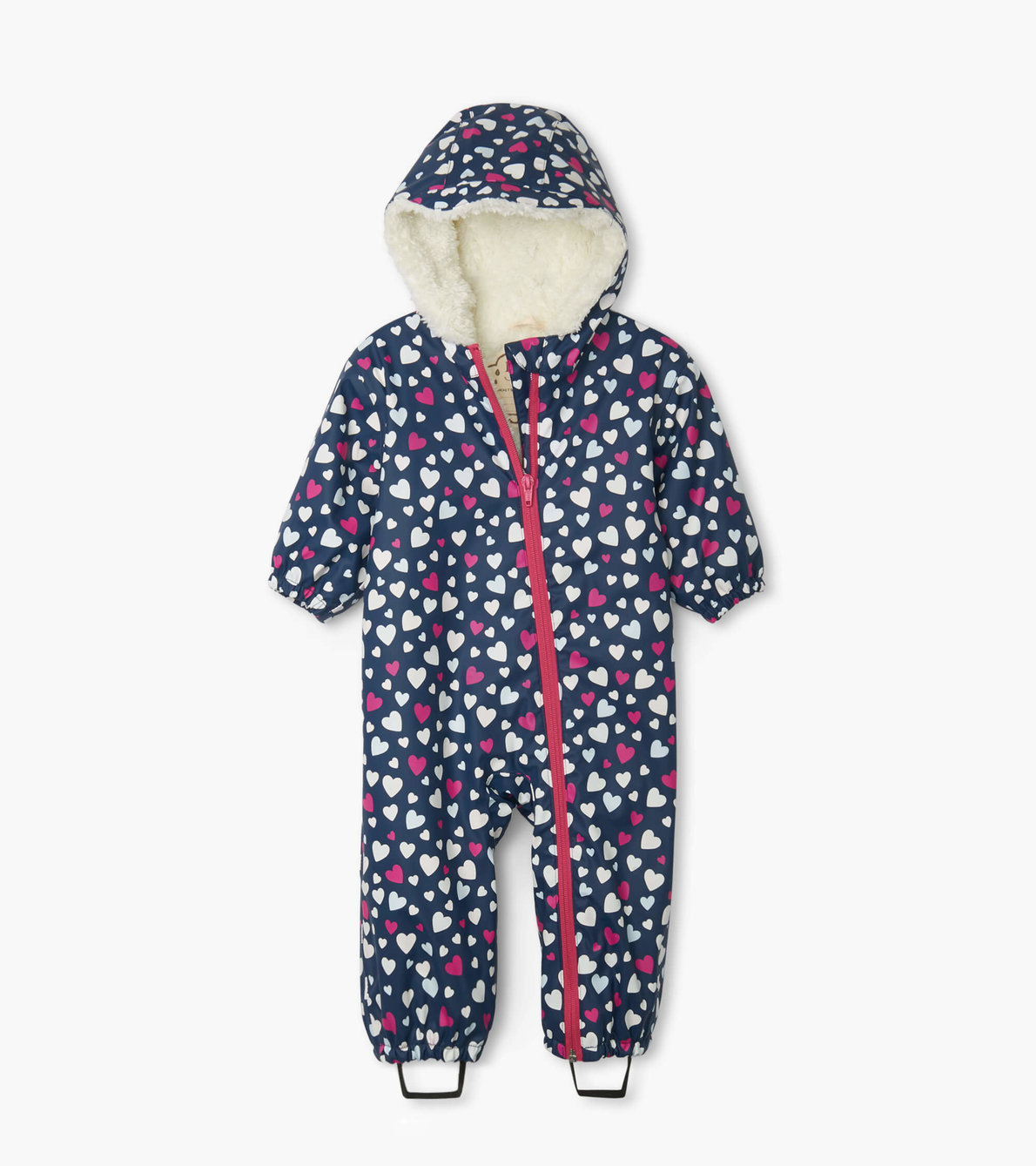 Hatley Confetti Hearts Sherpa Lined Colour Changing Baby Bundler