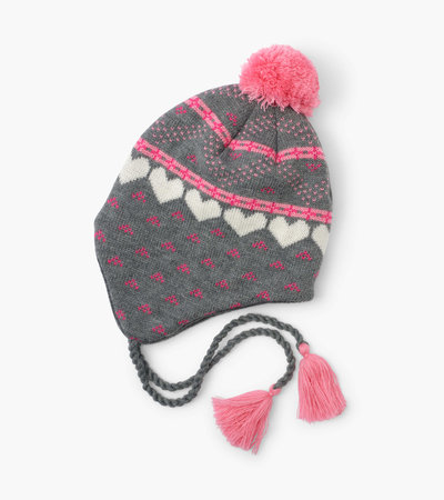 Hatley Winter Hearts Fleece Lined Trapper Hat