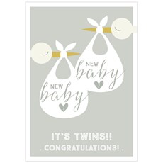Think Of Me It's Twins Card