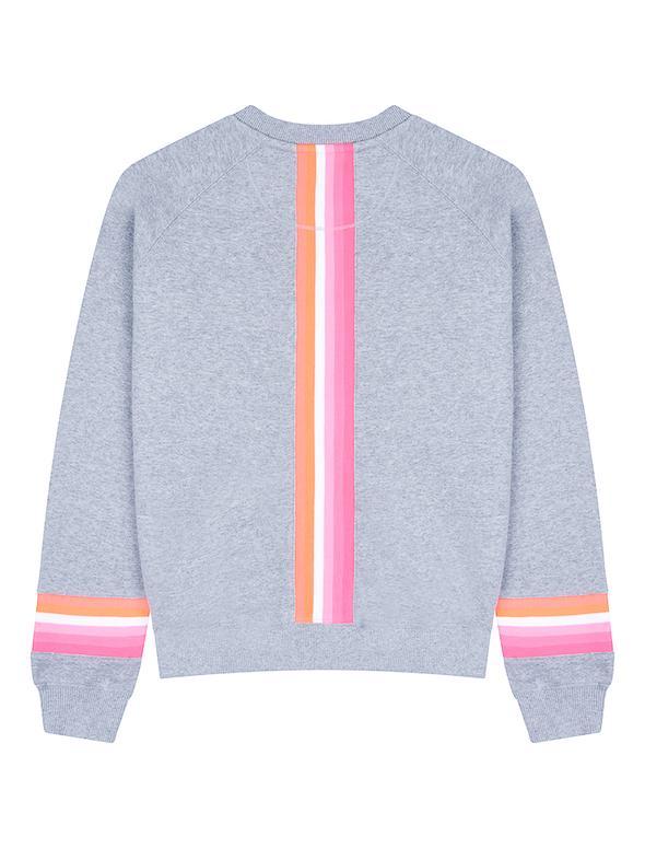 SALE £43.20 St Bert's Reverse Stripe Sweatshirt - Nimbus Grey (was £54)