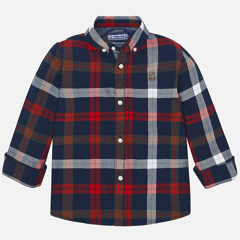 WAS £21.50 Mayoral Checked Shirt Red (4122)