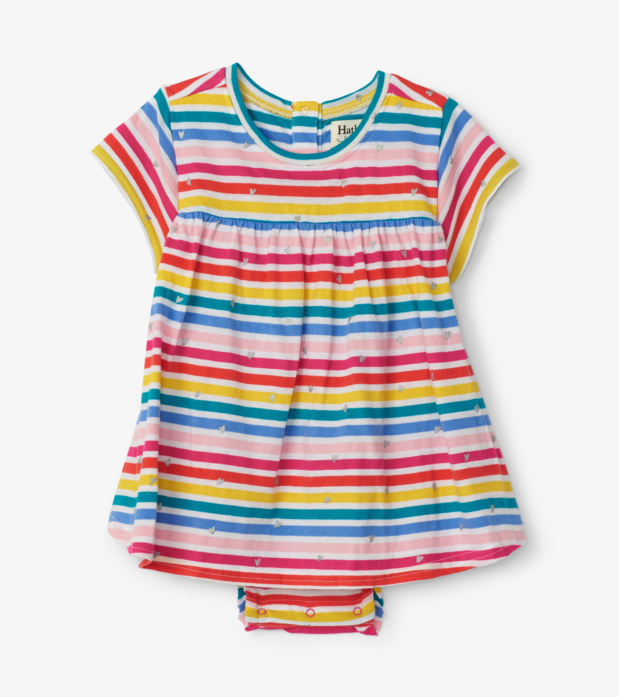 Hatley Rainbow Stripe Baby One-Piece Dress