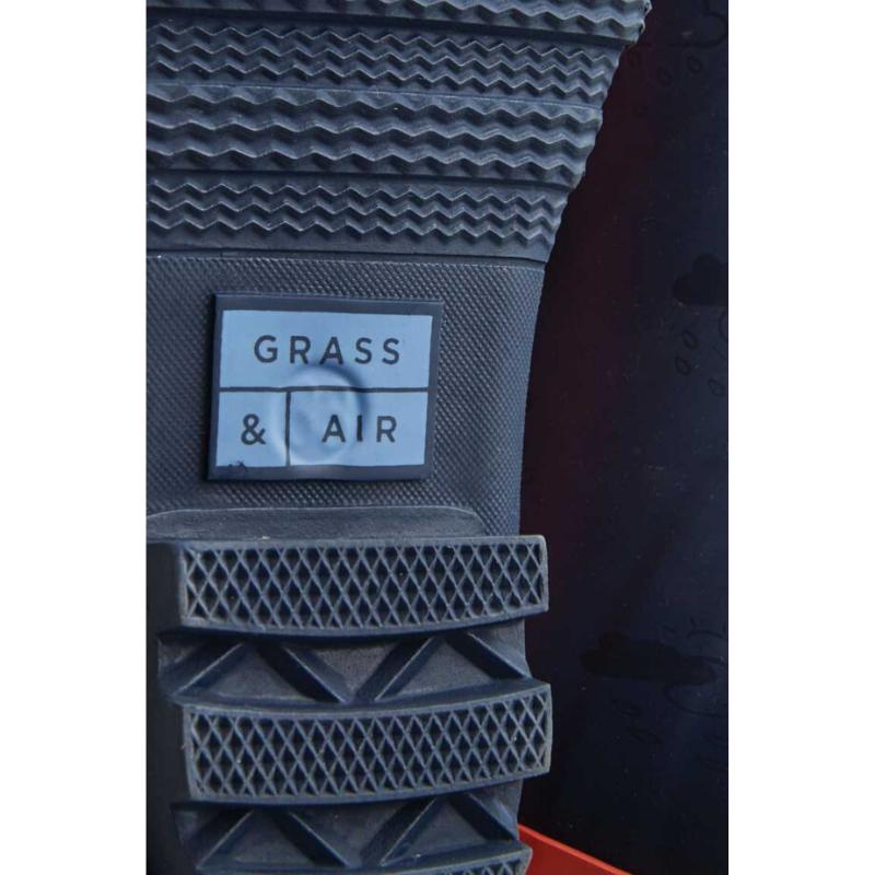 Grass & Air Junior Wellies - Coral/Navy