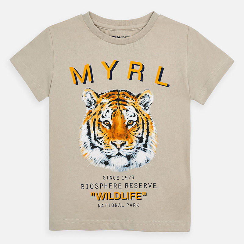 NOW £10 Mayoral T-shirt With Tiger Print  (3052)