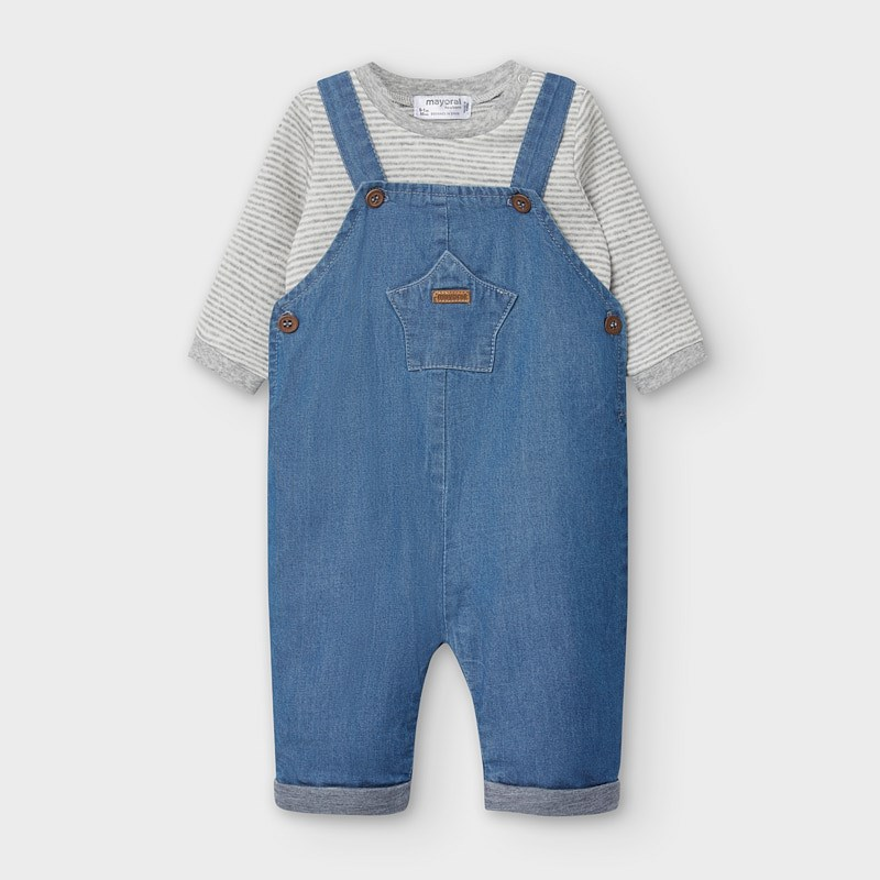Mayoral Dungaree Set-Denim Blue (2637)
