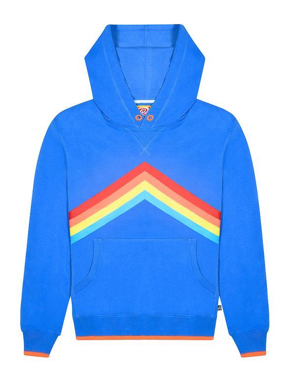 St Bert's Rainbow Pullover Hoodie - Marina Blue (was £60)