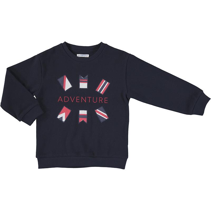 Mayoral Flags Print Sweatshirt-Navy 3401