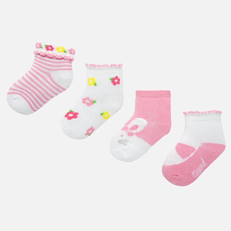 Mayoral Socks Set Flower Pattern (9245)