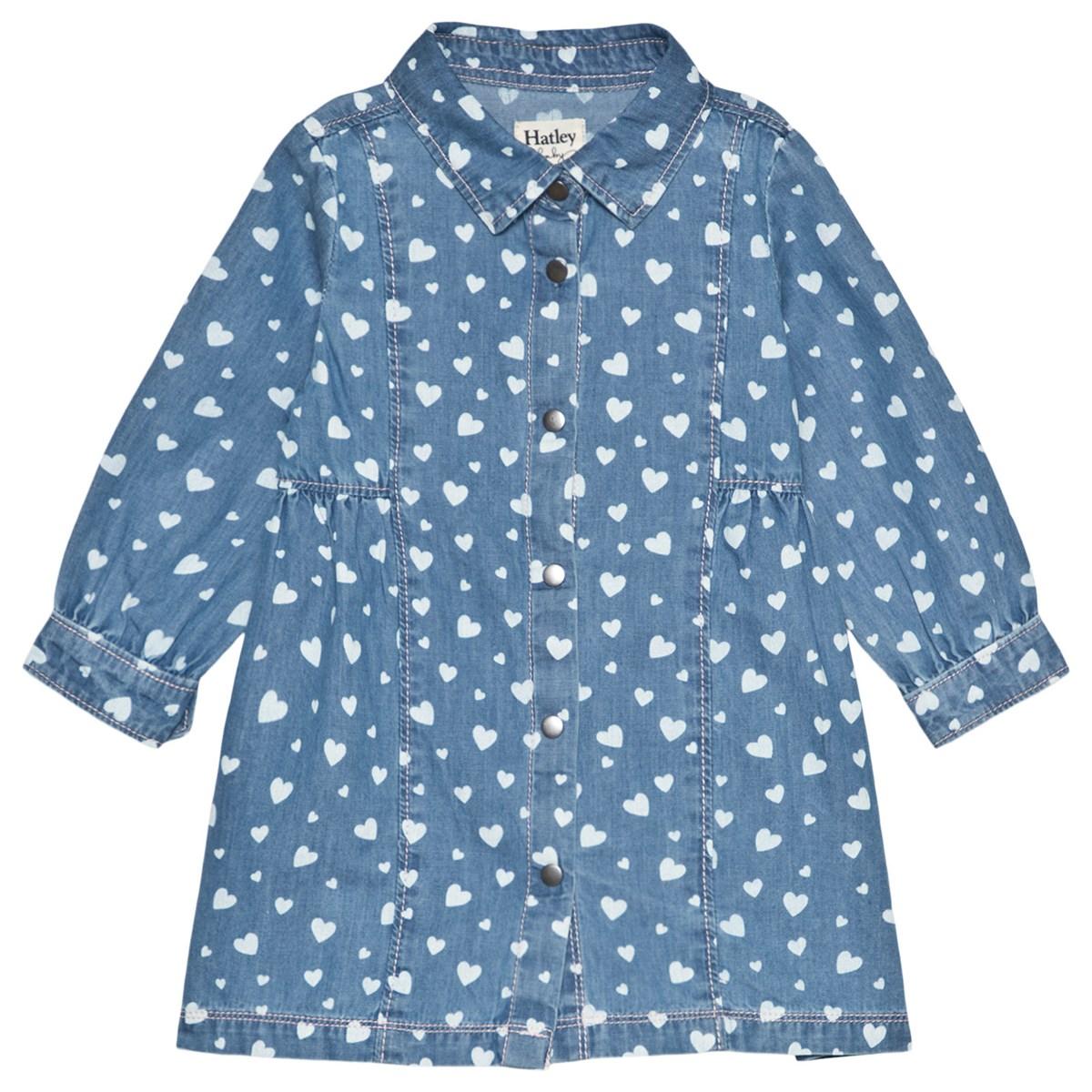 SALE £29.60 Hatley Heart Cluster Baby Denim Dress (was £37)